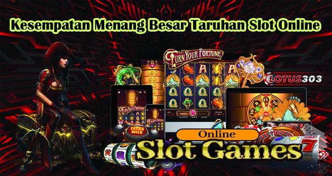 Kesempatan Menang Besar Taruhan Slot Online